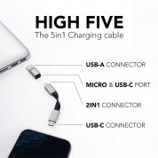 Vonmahlen High Five ABS 5in1 Charging Cable (black) 4