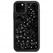 Bling My Thing Milky Way Nacre Swarovski - хибриден удароустойчив кейс с кристали Cваровски за iPhone 11 Pro (черен)