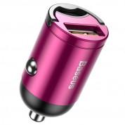 Baseus Tiny Star Mini Quick Charge Car Charger 30W VCHX-A04 - зарядно за кола с USB изход и технология за бързо зареждане (розов)