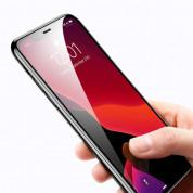 Baseus Full Screen Tempered Glass (0.30 mm) - калено стъклено защитно покритие за целия дисплей на iPhone 11, iPhone XR (прозрачен-черен) (2 броя) 5