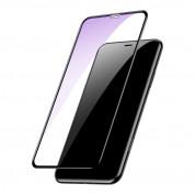 Baseus Anti-bluelight Full Screen Tempered Glass (0.30mm) - калено стъклено защитно покритие за целия дисплей на iPhone 11, iPhone XR (прозрачен-черен) (2 броя) 1