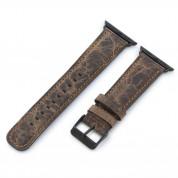 Torrii Leather Band - кожена каишка за Apple Watch 38мм, 40мм (тъмнокафява с кафеви шевове)