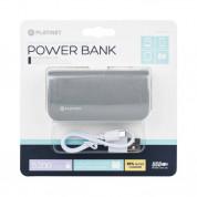 Platinet Power Bank Leather 5200 mAh - външна батерия с 2 USB изходa за таблети и смартфони (сив) 2