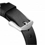 Nomad Strap Modern Slim Leather - кожена (естествена кожа) каишка за Apple Watch 38мм, 40мм (черен-сребрист) 5