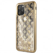 Guess Peony Liquid Glitter Case for iPhone 11 Pro Max (gold)