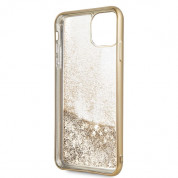 Guess Peony Liquid Glitter Case for iPhone 11 Pro Max (gold) 2