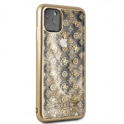 Guess Peony Liquid Glitter Case for iPhone 11 Pro Max (gold) 3