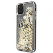 Karl Lagerfeld Glitter Floatting Charms Case for iPhone 11 Pro Max (gold) 1