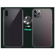 OEM Modified Camera Glass Lens - предпазни лещи за камерата на iPhone X, XS, XS Max с визия на iPhone 11 Pro, iPhone 11 Pro Max​ (черен) 2