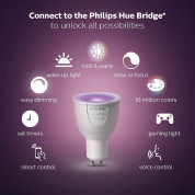 Philips Hue WCA 6.5W GU10 3 Set EUR PMO - система за безжично управляемо осветление за iOS и Android устройства  4