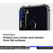 Spigen Crystal Shell Case - хибриден кейс с висока степен на защита за Xiaomi RedMi Note 8 (прозрачен) 5