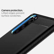 Spigen Rugged Armor Case - тънък качествен силиконов (TPU) калъф за Sony Xperia 5 (черен) 5