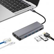 Platinet USB-C 4K Multimedia Adapter 7in1 - USB-C хъб за свързване на допълнителна периферия за устройства с USB-C порт (тъмносив) 3