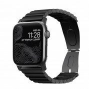 Nomad Strap Stainless Steel Band - титаниева каишка за Apple Watch 42мм, 44мм (черен) 6