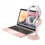 Satechi Aluminium Slim Headphone Stand - дизайнерска алуминиева поставка за слушалки (розово злато) 4