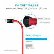 Anker Powerline+ Nylon Micro USB cable 180 cm (red) 2
