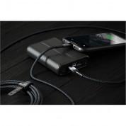 Nomad Kevlar USB-C to Lightning Cable - здрав кевларен кабел за устройства с Lightning порт (150 см) (черен) 3