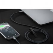 Nomad Kevlar USB-C to Lightning Cable - здрав кевларен кабел за устройства с Lightning порт (150 см) (черен) 4