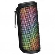 Puro Strobe Bluetooth Speaker - безжичен блутут спийкър с микрофон и LED визуализация за мобилни устройства (черен)