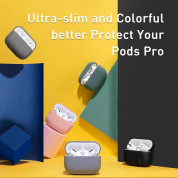 Baseus Shell Pattern Silica Gel Case for Airpods Pro (black) 1