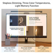 Baseus USB Stepless Dimming Screen Hanging Light - LED лампа за монитор (черен) 2