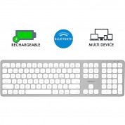 Macally Slim Bluetooth Wireless Keyboard - безжична Bluetooth клавиатура за MacBook (бял)