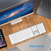 Macally Slim Bluetooth Wireless Keyboard - безжична Bluetooth клавиатура за MacBook (бял)  8