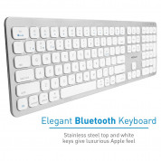 Macally Slim Bluetooth Wireless Keyboard - безжична Bluetooth клавиатура за MacBook (бял)  2