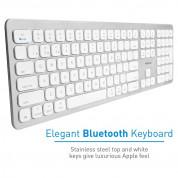 Macally Slim Bluetooth Wireless Keyboard - безжична Bluetooth клавиатура за MacBook (бял)  2