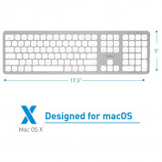 Macally Slim Bluetooth Wireless Keyboard - безжична Bluetooth клавиатура за MacBook (бял)  1