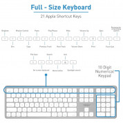 Macally Slim Bluetooth Wireless Keyboard - безжична Bluetooth клавиатура за MacBook (бял)  7