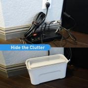 Macally Cable Box Organizer - кабелна кутия и органайзер за кабели, захранвания и други 1