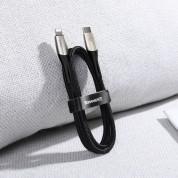 Baseus Horizontal USB-C to Lightning Cable - USB-C към Lightning кабел за Apple устройства с Lightning порт (50 см) (черен) 5