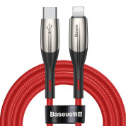 Baseus Horizontal USB-C to Lightning Cable (50 cm) (red)