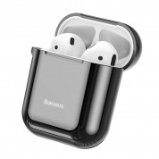 Baseus Shining Hook Silica Gel Case for Apple Airpods (black)