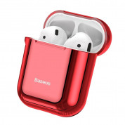 Baseus Shining Hook Silica Gel Case for Apple Airpods (red)