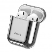 Baseus Shining Hook Silica Gel Case for Apple Airpods (silver)