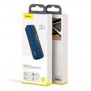 Baseus Transparent Series USB-C Hub CAHUB-TS03 - мултифункционален хъб за свързване на допълнителна периферия за устройства с USB-C (син) 9