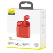Baseus Encok W09 TWS In-Ear Bluetooth Earphones - безжични блутут слушалки за мобилни устройства (червен) 5