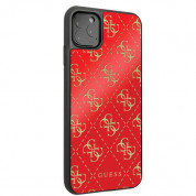 Guess Peony G Double Layer Glitter Case for iPhone 11 Pro (red) 4