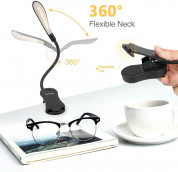 TechRise HBI05551 Clip-On LED Book Reading Light (black) 3