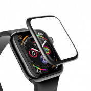 Baseus Full Screen Curved Tempered Glass for Apple Watch 5/4 (44mm) (black) 3