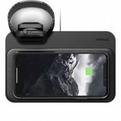 Nomad Base Station Apple Watch Wireless Charging Dock - двойна поставка (пад) с до 7.5W безжично захранване за зареждане на мобилни устройства и зареждане на Apple Watch и Apple Airpods (черен) 5