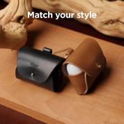 Elago Airpods Pro Leather Case - кожен калъф (ествествена кожа) за Apple Airpods Pro (черен)  2