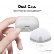 Elago Airpods Skinny Silicone Case - тънък силиконов калъф за Apple Airpods и Apple Airpods 2 with Wireless Charging Case (бял-фосфор)  3