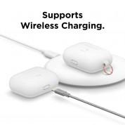Elago Airpods Original Hang Silicone Case - силиконов калъф с карабинер за Apple Airpods Pro (бял-фосфор) 4
