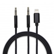 4smarts Lightning and 3.5mm AUX to 3.5mm Aux Audio Cable SoundCord 1.2m - кабел от Lightning и 3.5мм към 3.5 мм (1.2м) (черен)