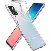 Spigen Liquid Crystal Case - тънък качествен силиконов (TPU) калъф за Samsung Galaxy S10 Lite (прозрачен)  3