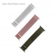 4smarts Sport Band Nylon - текстилна каишка за Apple Watch 42мм, 44мм (розово злато) 1