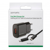 4smarts Fast Wall Charger VoltPlug QC3.0 18W with ComboCord Cable 1.5m (black) 5